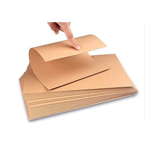 Kraftpapier,50 Blatt, 260 g / m², A4,Naturkarton Ideal für Basteln und DIY, hochwertig, braune natürliche handwerkskarte,Kraftkarton