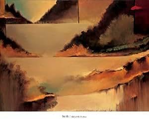 Affiche comme un Bloc d'Art 'Behind the Curtain' par Denis Jully - Taille du produit fini 94 cm L x 68 cm H x 4 cm D