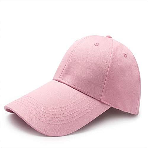 sdssup Gorra Cap Gorra de béisbol Sombrero Largo Hat Modelos de Pareja de Sombreros Masculinos Capo Rosa 59.5-62cm