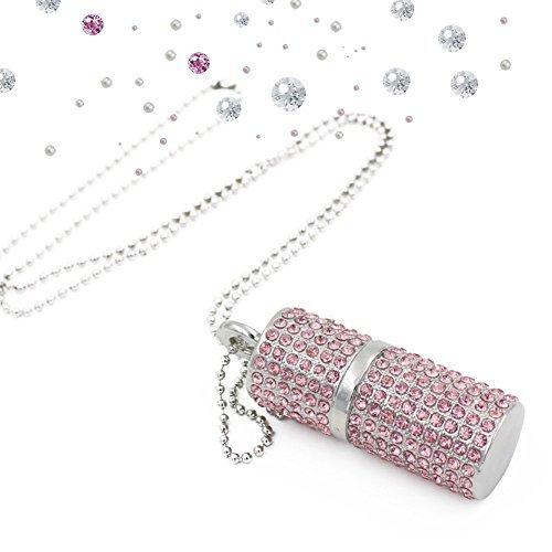 Shooo USB-Stick,Bling Rhinestone Diamond Crystal Glitter Lippenstift Case Leuchtenden Jewelry...