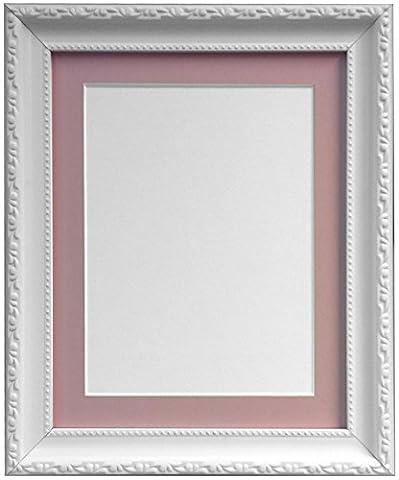 Frames By Post AP3025Foto Rahmen mit 50x 40cm rosa Halterung für A3Bild Größe, Kunststoff Glas, weiß, 30mm breit