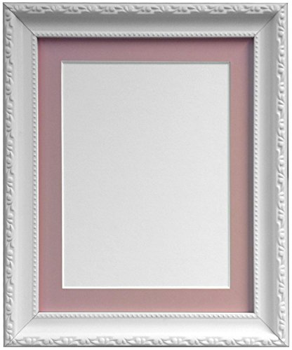 frames-by-post-ap3025-photo-frame-with-14-x-11-inch-pink-mount-for-a4-picture-size-white-30-mm-wide