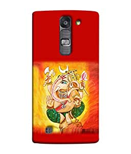 PrintVisa Designer Back Case Cover for LG G4 Mini :: LG G4c :: LG G4c H525N (Ganesha In Red Background Design)