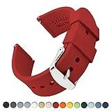 Archer Watch Straps   Repuesto de Correa Reloj de Silicona para Hombre y Mujer, Caucho Fácil de Abrochar para Relojes y Smartwatch   Rojo Veneciano, 22mm