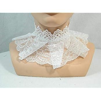 Halsband weiß Braut Spitze Kropfband Choker Kette Gothic Lolita Kragen Scarfette