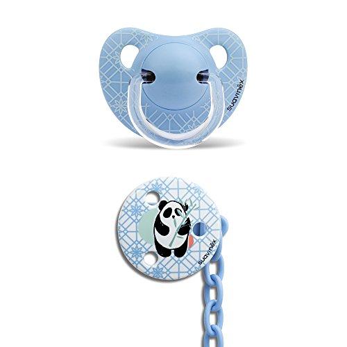 Suavinex Panda - Chupete y broche, color