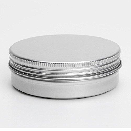 Conteneurs cosmetiques - SODIAL(R) 5 x conteneurs cosmetiques vides couvercle a vis du recipient jar levre pot de baume en aluminium 100ml