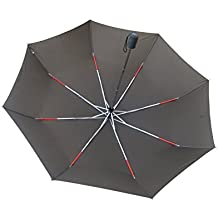 Ombrello Pieghevole H.DUE.O Antivento Chiusura ed Apertura Automatica  Colore  Fango  copertura 130 centimetri