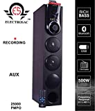 ELECTROSAC 500w 25000 PMPO Dj Tower Speaker Boom Bass Home Theater Speaker System