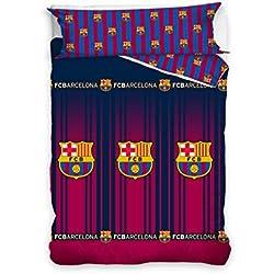 Asditex Funda Nórdica Futbol Club Barcelona FCB, Color Único, 2 Piezas (Incluye Funda de Almohada), Cama de 90cm.