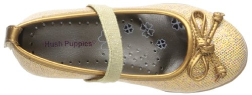 Hush Puppies Flowerhill Mary Jane (Toddler/Little Kid/Big Kid) Gold Glitter