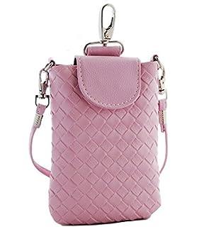 HuaYang sac à main bandoulière pour téléphone portable cuir