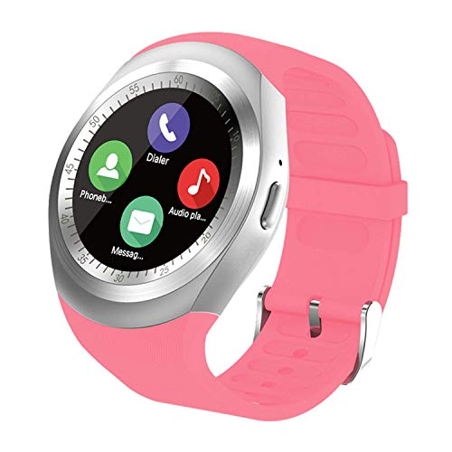SEPVER Smartwatch Smart Watch Rund mit SIM-Karte Slot Touchscreen Fitness Uhr Intelligente Armbanduhr Fitness Tracker Sport Uhr Kompatibel mit Android Phone iPhone für Damen Herren Kinder (Pink)
