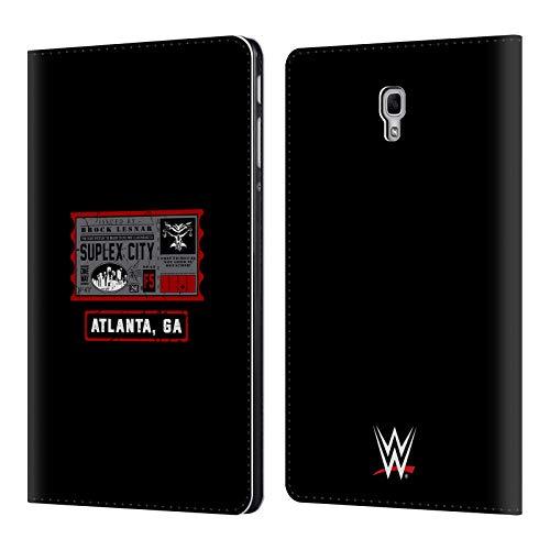 Head Case Designs Offizielle WWE Brock One Way Ticket Atlanta 2018/19 Superstars Leder Brieftaschen Huelle kompatibel mit Samsung Galaxy Tab A 10.5 (2018) (Wwe Tickets)
