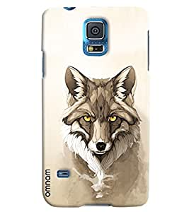 Omnam Dog Wolf Printed Designer Back Cover Case For Samsung Galaxy S5