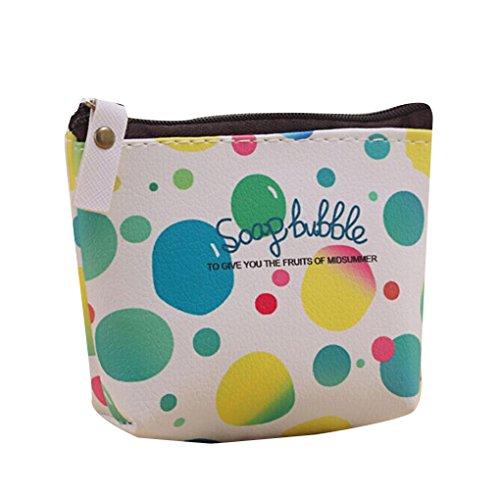LUFA Borsa portafogli portatile borsa della borsa della borsa della pelle di cuoio delle ragazze sveglie di Pu verde