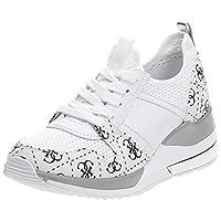 GUESS Jori2 Women's Athletic & Outdoor Shoes, White (White/Multicolour), 38.5 EU