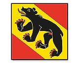 Flagge/Fahne BERN schweizer Kanton Schweiz Staatsflagge/Landesflagge/Hissflagge mit Ösen 90x90 cm, sehr gute Qualität