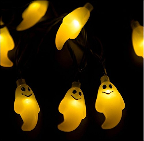 Covermason 1.2M 10 LED Stripe Ghost String Light Für Halloween Party Decor (Gelb)