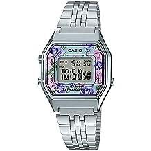 Casio Reloj Digital para Mujer de Cuarzo con Correa en Acero Inoxidable LA680WEA-2CEF