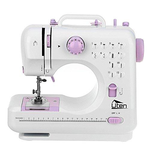 Macchina per Cucire macchina da cucire portatile con 12 pedale 2 velocità regolabile per Principianti