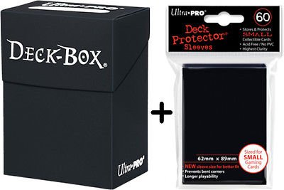 Ultra Pro Deck Box + 60 Small Size Protector Sleeves - Schwarz - Black - Yu-Gi-Oh! - Japanese Mini
