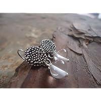 ✿ NUPSIES con ROCK CRYSTAL ✿ orecchini unici