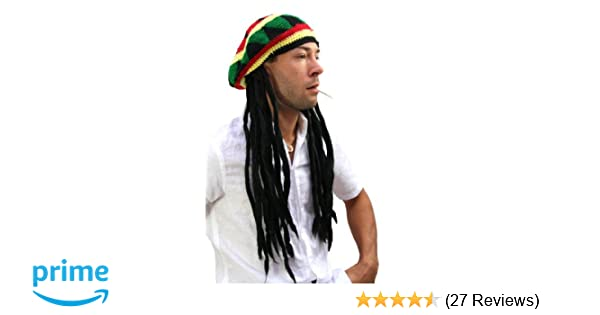 f3df12a837d WIG ME UP ® - Party Fancy Dress Halloween DOPE Hat Cap with DREADLOCKS  RASTA Jamaica Reggae Ska  Amazon.co.uk  Toys   Games