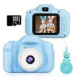 Cámara para Niños,Hommie cámara de Video 1080p HD con Mmoria 16GB, Pantalla LCD a Color,Cámara para Niño, Azul