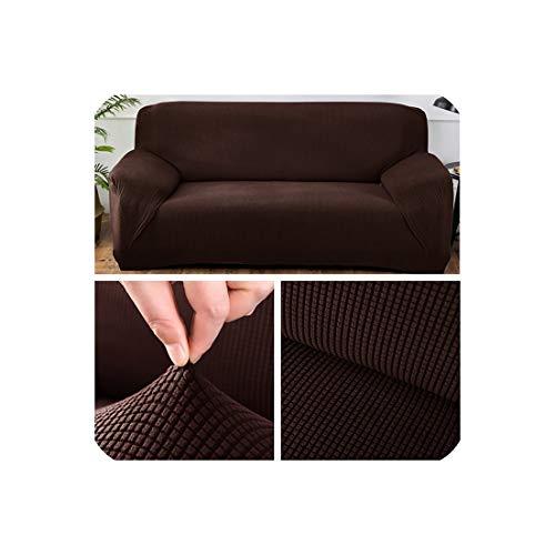 Polar-fleece-einsätze (Polar Fleece Stoff Universal-Sofa-Abdeckung für Wohnzimmer Stretch-Ecksofa Cover, Kaffee, 4-Seater 235-300cm)