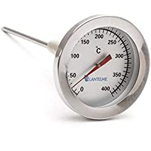 Termómetro para gases de combustión de Lantelme, 400 °C, de acero inoxidable Termómetro
