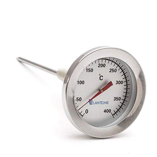 Termómetro para gases de combustión de Lantelme, 400°C, de acero inoxidable Termómetro...