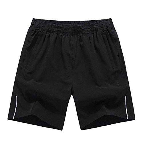 donhobo Men's Training Running Gym Lightweight Sport Shorts With Zip Pockets