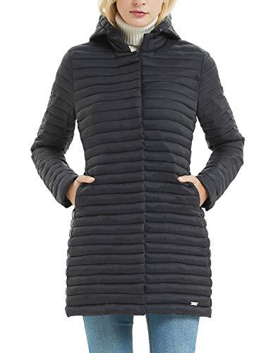 Bellivera Abrigo con Capucha Acolchada para Mujer