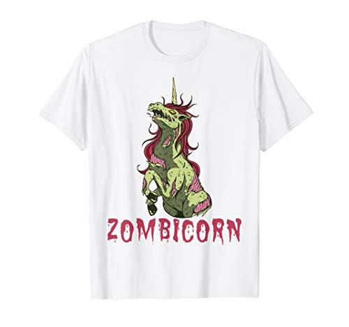 Weiß T Kostüm Zombie Shirt - Halloween Einhorn Zombie Zombie Zombicorn Kostüm T-Shirt