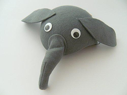 Elefanten Hut f. Kindergeburtstag Karneval Fasching Elefant Tier Tiere Hüte Filz Mütze Kappe Maske Theater