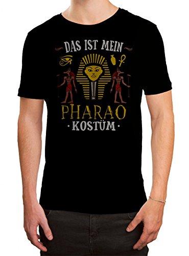 um T-Shirt Verkleidung Karneval Fasching Herren Shirt, Farbe:Schwarz (Deep Black L190);Größe:L (Pharao Kostüm Männer)