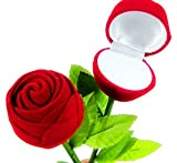 #2: Lilone Pack Of 2 Red Plastic Rose Ring Box