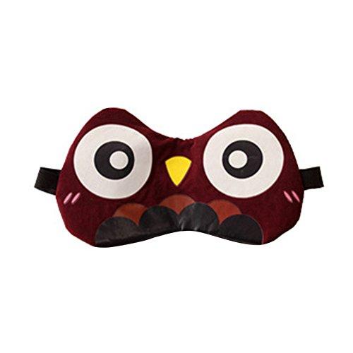 taottao Cute Animal suave esponjoso ojos máscara/antifaz para dormir (orejas 3d viaje dormir resto máscara de ojo sombra cubierta de parche para el ojo venda Shield suave Unisex para dormir Ayuda regalo