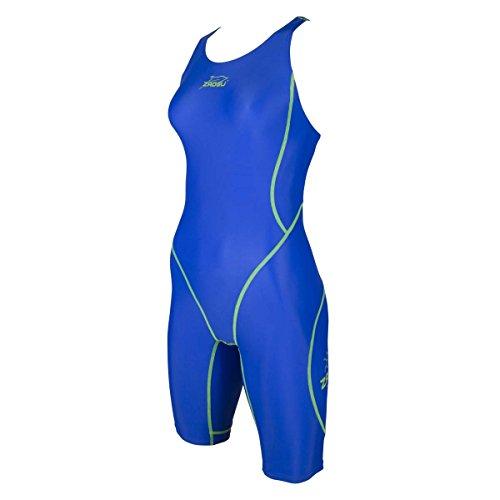 ZAOSU Wettkampf-Schwimmanzug Z-Blue für Mädchen und Damen in blau, Größe:176/36