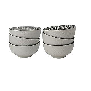 ARD 'time ex-6kobol12komae bunt 6Stück Schalen aus Keramik (250ml; 11x 11x 5,5cm)