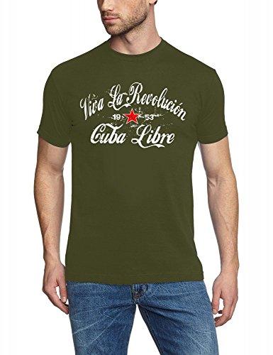 Coole-Fun-T-Shirts - Maglietta, Uomo oliv_slimfit