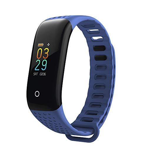 LRWEY Fitness Smart Watch, Intelligenter Farbbildschirm Blutdruck-ÜBungs-Herzfrequenz-Pedometer Smart Watch, FüR Android iOS