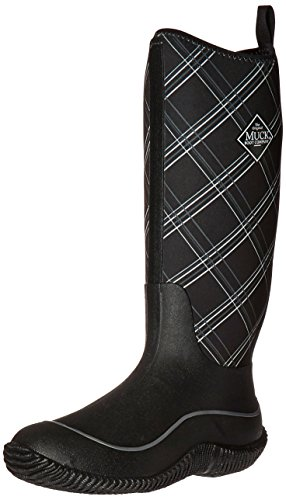 Muck Boots Damen Womens Hale (Plaid) Gummistiefel, Schwarz (Black/Castlerock), 36 EU -