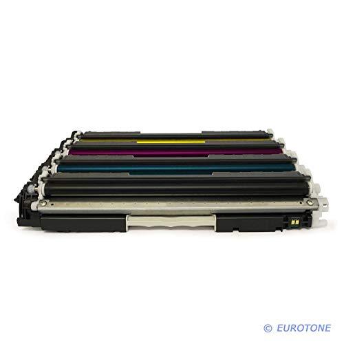 4x Eurotone Toner für Canon I-Sensys LBP 7010 7018 c ersetzt 729 alle Farben - Blau Canon Toner