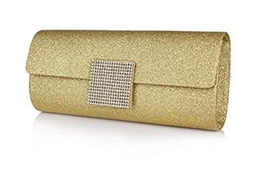 peyviva Frauen Fashion Luxus Strass Abendtasche Geldbörse, gold (Gold) - UK-WYB061-Gold gold