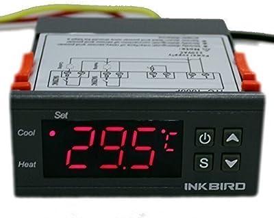 Inkbird ITC-1000 220V Controlador de Temperatura Doble Relés con Sensor, Termostato Enfriamiento y Calefacción,para Incubadora,Cocina, Agua Temperatura Control