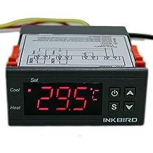 Inkbird ITC-1000 2 Rele 220v Refrigeración y Calefacción Controlador de Temperatura con Sonda, Digital Termostato Incubadora Terrario, Bomba Acuario Calentador de Agua,Ventilador,Frigorifico