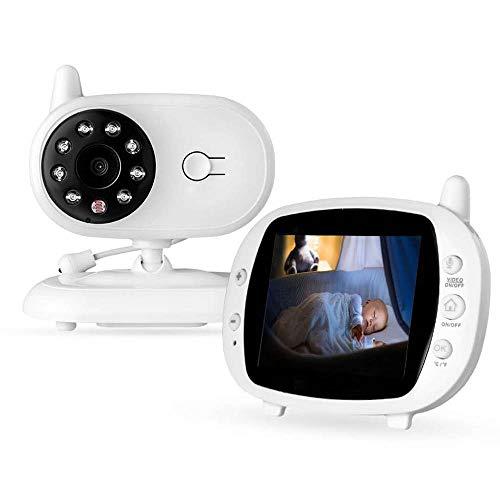 DWhui 3.5Inch Wireless LCD Audio Video Baby Monitor Nanny Music Intercom IR Portable Baby Camera Baby Walkie Babysitter (Optik-video-baby-monitor)