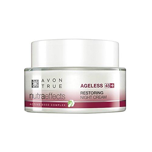 Avon Nutra Effects Ageless Anti-Aging Nachtcreme für Haut ab 45+ Nachfolger von Solutions Ageless Bloom